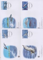 World Wide Fund For Nature  2010 Penrhyn -Striped Dolphin ,Set 4 Official First Day Covers - FDC