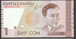 Kirghizistan (KYRGYZSTAN) : 1 Som - P15 - 1999- UNC - Kirghizistan