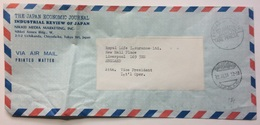 JAPAN - Air Mail Cover 1984 Tokyo To Liverpool With Taxe Percue Cachet And Kojimachi Postmark - Airmail