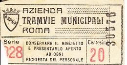 ** AZIENDA TRAMVIE MUNICIPALI.-ROMA.-** - Tramways