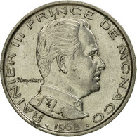Monnaie, Monaco, Rainier III, Franc, 1968, TB+, Nickel, Gadoury:MC 150, KM:140 - Mónaco