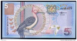 SURINAME : Banconota 5 Gulden 2000 - P146 - FDS - Suriname