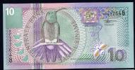 SURINAME : Banconota 10 Gulden 2000 - P147 - FDS - Surinam