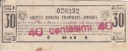 ** SOC. ROMANA TRAMWAYS - OMNIBUS.-** - Tram
