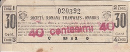** SOC. ROMANA TRAMWAYS - OMNIBUS.-** - Tramways
