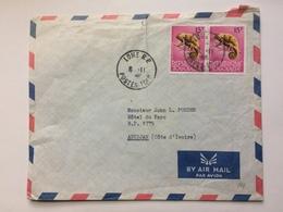 TOGO - 1966 Air Mail Cover Lome To Abidjan Ivory Coast - Togo (1960-...)