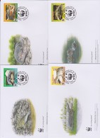 World Wide Fund For Nature  2011 Philippines-Crocodile , Set 4 Official First Day Covers - FDC