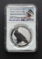 Australia, Wedge Tailed Eagle 1 Oz 2017 Silver 999 Pure - 1 Oncia Argento Puro Bullion Perth Min - Australia
