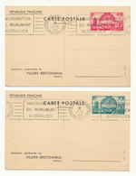 FRANCE 10 Entiers Années 1938/39 / Stationnary Post Cards (Autralian & American Memorial + Normandie + Exibition NY) - Postal Stamped Stationery