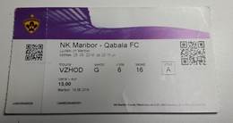 Football Ticket NK Maribor : Qabala FC 25.8.2016 EUROPA League Stadion Ljudski Vrt Maribor  SOCCER Slovenia - Match Tickets