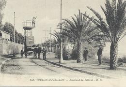 DPT 83 TOULON MOURILLON Boulevard Du Littoral Compagnie Provençale De Tramways Attelage Entretien De La Ligne CPA TBE - Toulon