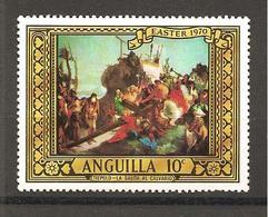 ANGUILLA - 1970 TIEPOLO  Salita Al Calvario (chiesa Di Sant'Alvise, Venezia)  Nuovo** MNH - Religione
