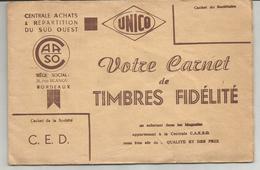 Carnet De Timbres Fidélité De La Centrale D'achats Et Répartition Du Sud Ouest - CARSO - Autres