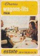** ORARIO - WAGONS-LITS.-ITALIA.-** - Europe