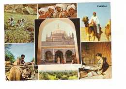 Pakistan Cartes 7 Vues  Artisanat Agriculture Folklore + Timbre Cachet 1968 CPM - Pakistan