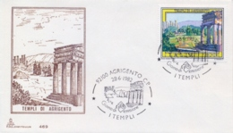 Italy 1982 FDC Temples Of Agrigento - Archeologia