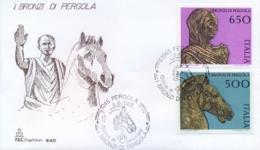 Italy 1988 FDC Bronze Of Pergola - Archeologia