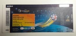 Ticket FUTSAL EURO 2018 Ukraine : Portugal, Azerbaijan : Spain 4.2.2018  Arena Stozice Ljubljana Slovenia - Match Tickets