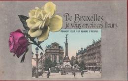 Brussel 1909 Belle Epoque De Bruxelles Je Vous Envoie Ces Fleurs Monument Eleve A La Memoire D' Anspach Anspachlaan - Places, Squares