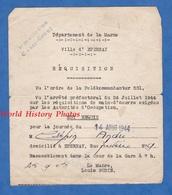 Document Ancien - EPERNAY ( Marne ) - Réquisition , Feldkommandatur 531 - 14 Aout 1944 - Louis Budin Maire - WW2 - 1939-45