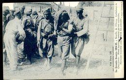 Cpa  Bataille De L' Ourcq Ambulance De Chauconin -- Blessé Marocain Ramené Par Ses Camarades SEPT18-38 - Guerre 1914-18