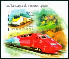 Togo, LES TRAINS, 2500F, 2013 MintNH - Trains