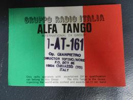 18230) ADESIVO GRUPPO RADIO ITALIA ALFA TANGO CHIVASSO 10 X 7 Cm - Adesivi