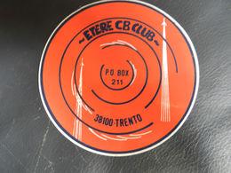 18228) ADESIVO ETERE CB CLUB TRENTO ROTONDO - Adesivi