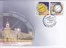 2018 , MOLDOVA  MOLDAVIE MOLDAWIEN , Horologes Of Chișinău ,  FDC - Moldavie