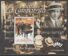URUGUAY, 2017, MNH,MUSIC, PIANO, DANCES, TANGO, GERARDO MATOS RODRIGUES, LA CUMPARSITA, S/SHEET - Musica