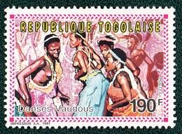 Togo,danse Vaudous ,190F, 1991- Mint NH - Danse