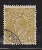 AUSTRALIA Scott # 118 Used - KGV Head - 1913-36 George V : Têtes