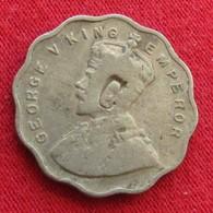 British India 1 Anna 1933 Chop Mark  Inde Indie Indien Wºº - India