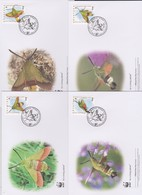 World Wide Fund For Nature  2012 Croatia- Hemaris Croatica, Set 4 Official First Day Covers - FDC