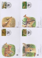 World Wide Fund For Nature  2012 Ghana -Bohor Reedbuck , Set 4 Official First Day Covers - FDC