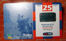 ROMA 2002  TIM € 25 TIM   SCHEDA  TELEFONICA PREPAGATA  USED - Schede GSM, Prepagate & Ricariche