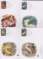 World Wide Fund For Nature 2012 Tonga- Seahorses , Set 4 Official First Day Covers - FDC