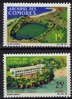 COMORES Poste  39 à 40 * MH Paysages : Lac Salé Et Hôtel Itsandra à Moroni Beach - Comoro Islands (1950-1975)