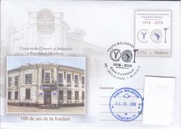 2018  , Moldova Moldavie Moldau , 100y Of The Chamber Of Commerce & Industry Of Moldova , Pre-paid Envelope - Moldavie