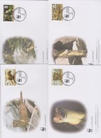 World Wide Fund For Nature 2013 Tajikistan-Mustela Altaica Set 4 Official First Day Covers - FDC