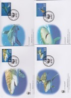 World Wide Fund For Nature 2014 Grenada White Tip Shark  Set 4 Official First Day Covers - FDC