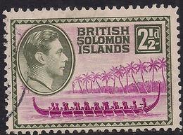British Solomon Islands 1939 - 51 KGV1 2 1/2d Roviana Canoe SG 64 ( H1155 ) - British Solomon Islands (...-1978)