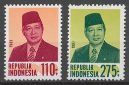 Indonesia 1983 Mi# 1113-14** DEFINITIVES, PRESIDENT SUHARTO - Indonesia