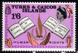 Turks & Caicos Islands 1968 QE2 1/-6d Human Rights Umm SG 293 ( D105 ) - Turks And Caicos
