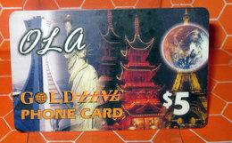 GOLD LINE PHONE CARD 5 - Canada