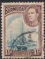 Bermuda 1938 - 52 KGV1 1 1/2d Ships In Hamilton Harbour SG 111 ( H1137 ) - Bermuda