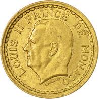 Monnaie, Monaco, Franc, Undated (1943), Poissy, TTB+, Cupro-Aluminium - Monaco