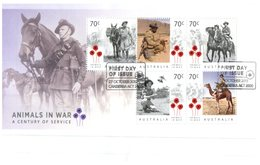 (642) Australia FDC Cover - 2015 - Animals In War (mini-sheet) - FDC