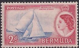 Bermuda 1953 - 62 QE2 2d Victory 11 Dinghy MM SG 138 ( H1141 ) - Bermuda