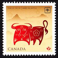 Canada (Scott No.2296 - Année Du Boeuf / Year Of The Ox) (**) - 1952-.... Règne D'Elizabeth II